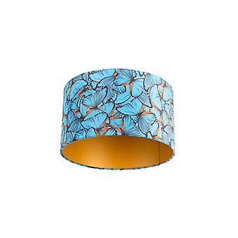 QAZQA Velor abat-jour papillon design 35/35/20 doré à l'intérieur