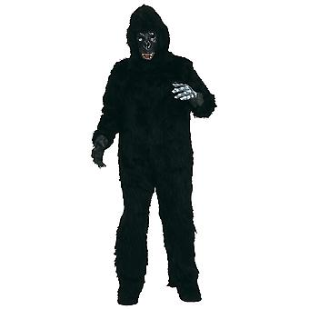 Gorilla Deluxe Ape Monkey King Kong Wild Animal Jungle Mascot Adult Mens Costume