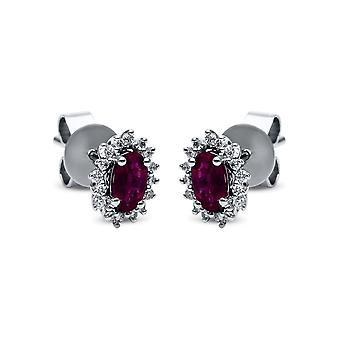 Diamond Gemstone StudS - 750/- WG - 0,16 ct. - 0,58 ct. - 2G087W8-2