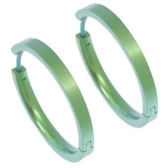 Ti2-טיטניום בינוני מלא עגילים-ירוק טרי