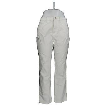 Denim & Co. Damen's Classic Denim Knöchel Jeans Weiß A304475