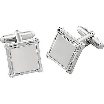 Duncan Walton Braxton Essential Border Cufflinks - Silver