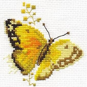 Alisa Cross Stitch Kit - Yellow Butterfly