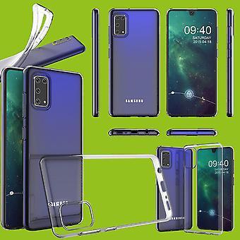 Para Samsung Galaxy A41 A415F Silicone Case TPU Proteção Transparente Capa Capa Acessórios