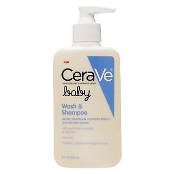 Lavage de bébé CeraVe & shampooing, 8 oz