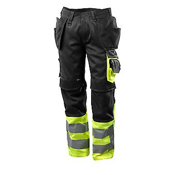 Mascot hi-vis work trousers holster-pockets 17531-860 - safe supreme, mens