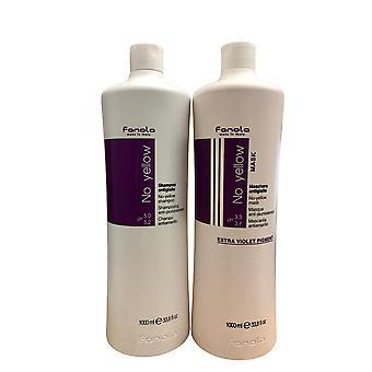 Fanola No Yellow Shampoo & Mask 33.8 OZ Each