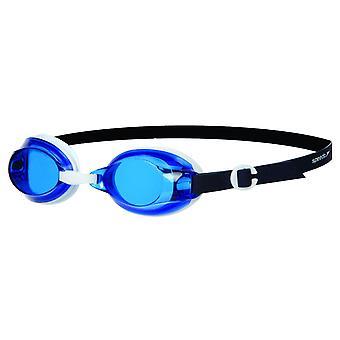 Speedo Jet Senior Unisex aikuiset UV Anti Fog uima-suoja lasit-valkoinen/sininen