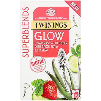 Twinings Superblends Glow Enveloped Tea Bags