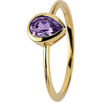 Jacques Lemans - Gold-plated silver ring with amethyst - SE-R123F56 - RW: 56