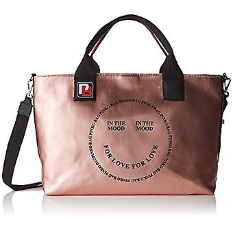 Pinko in de Mood Shopping canvas Cerato Women's hand Bag (Rosa) 18x30x40 cm (b x H x L)