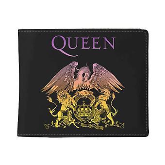 Queen Wallet Bohemian Rhapsody Classic Crest Band Logo nouveau noir officiel