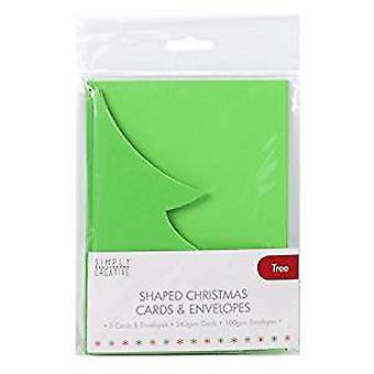 Yksinkertaisesti luova joulukortti &; Kirjekuoripuu