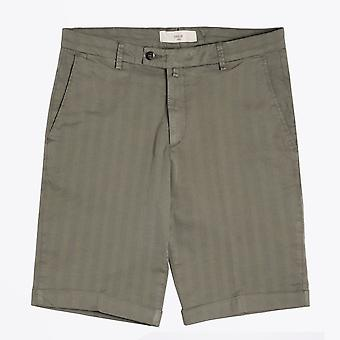 Briglia - Khaki Shorts With Tonal Stripe & Turn Up