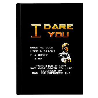 I Dare You Pulp Fiction Hardback Journal