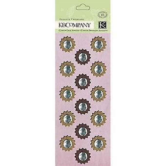 K&Company Brenda Walton Flora & Fauna Adhesive Chipboard, Medallion