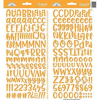 Doodlebug Design Tangerine Abigail Adesivos