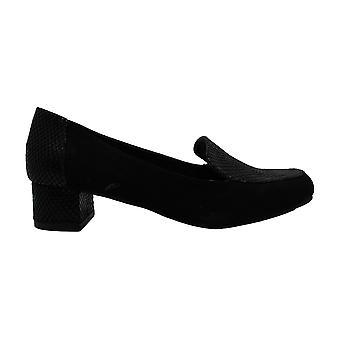 Karen Scott Womens Flura Leather Almond Toe Loafers