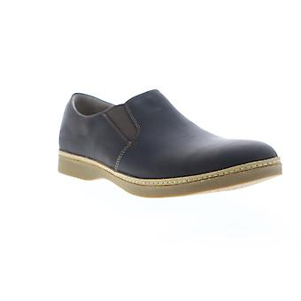 Ahnu Clay  Mens Black Leather Casual Slip On Loafers Shoes