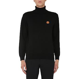 Kenzo Fa65pu5383ta99 Men's Black Wool Sweater