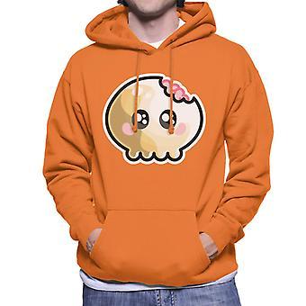 Cute Skull Bite Brains Kawaii Men's Hooded Sweatshirt