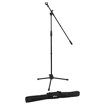 Boom Microphone Stand by World Rhythm - Mic Stand with Microphone Clip