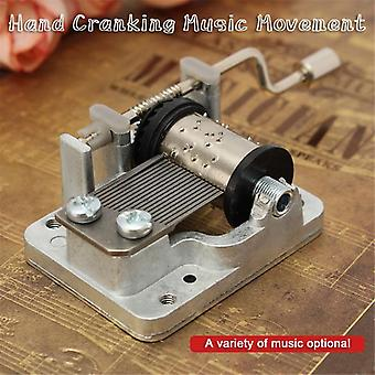 Mini Hand Cranking Music Movement - Diy Music Box Variedad decorativa de coleccionables de música