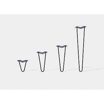 Set von 4 Haarnadel Tischbeine Möbel Beine rechts 16 cm Matt schwarz