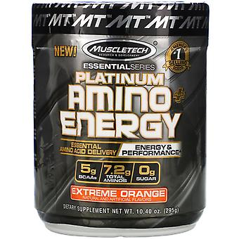 Muscletech, Platinum Amino Plus Energy, Extreme Orange, 10.40 oz (295 g)