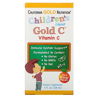 California Gold Nutrition, Children's Liquid Gold Vitamin C, USP Grade, Natural