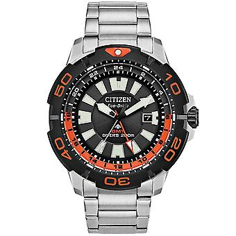 Citizen Watches Bj7129-56e Mens Eco-drive Promaster Diver Gmt Stainless Steel Black Watch