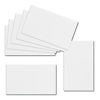 تأثير الأبيض. 60mm × 100mm. بطاقة مكان. 250gsm ورقة بطاقة.