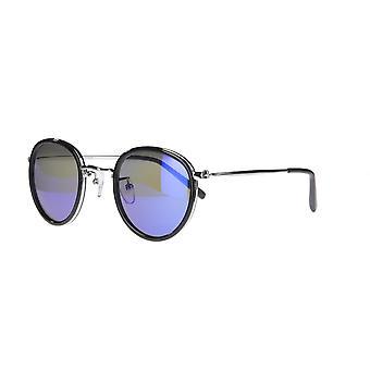 نظارات شمسية Unisex Cat.3 أسود / فضة زرقاء (AMU19202 D)
