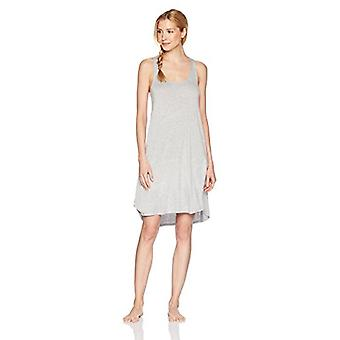 Brand - Mae Women's Sleepwear Long Racerback Nightgown, Light Heather ...