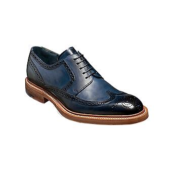 Barker Bailey - Navy Hand Painted - 12 | Mens Handmade Leather Derby Brogue | Barker Shoes