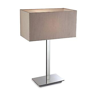 Firstlight Prince - 1 Light Table Lamp Polished S/Steel, Oyster, E27