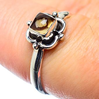 Smoky Quartz Ring Size 7.25 (925 Sterling Silver)  - Handmade Boho Vintage Jewelry RING26427