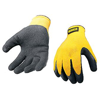 DEWALT DPG70L Yellow Knit Back Latex Gloves - Large DEWGRIPPER
