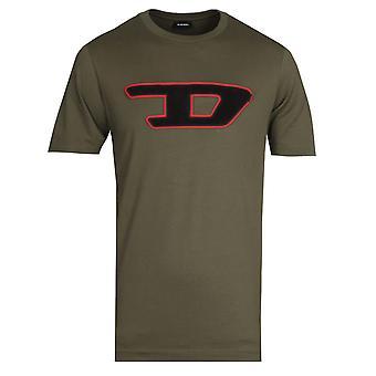 Diesel Large Logo Green T-Shirt