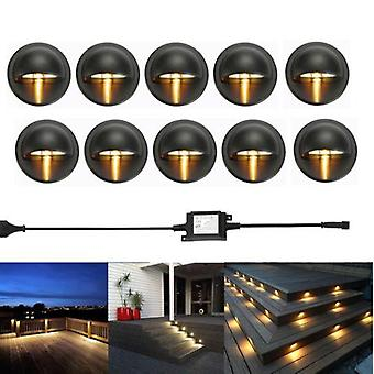 Half Moon Led Lights Lamps For Outdoor Garden Yard Fence Stair Deck Rail Step