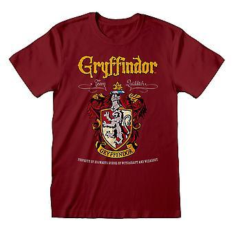 Harry Potter Unisex Adulto Gryffindor T-Shirt