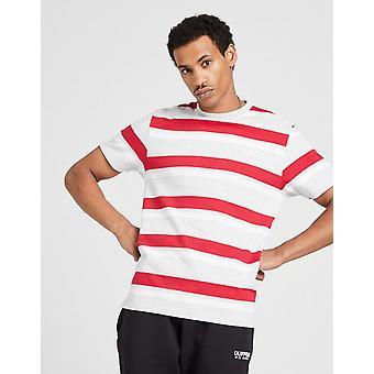 New Duffer Men's Louis Stripe Short Sleeve T-Shirt Grey