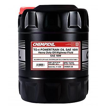 Chempioil 20L Tractor Transmission Oil 10W TO-4 for JCB & CAT Wet Brakes Suits 4000/2505T