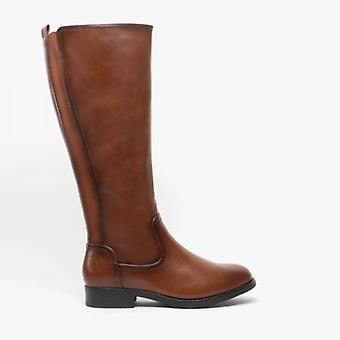 Heavenly Feet Racquel Ladies Tall Boots Brown
