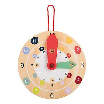 Legler Small Foot Children's Wooden Educate Wall Clock Unisex Multi-colour 11291