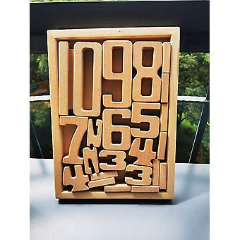Children Beech Wood Digital Math Blocks For Early Learning