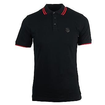 Roberto Cavalli Shield Logo Black Polo Shirt