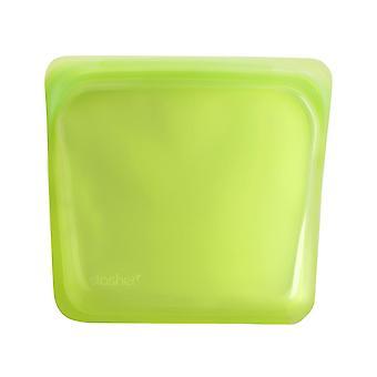 Stasher Reusable Snack Bag, Lime 19 x 18 cm