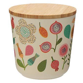 Puckator Autumn Falls Bamboo Storage Jar, Small