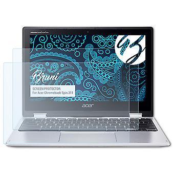 Bruni 2x Película Protectora compatible con Acer Chromebook Spin 311 Lámina Protectora